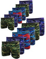 10-20 Boxershorts Herren Baumwolle Retro Unterhose Unterwäsche camouflageprint