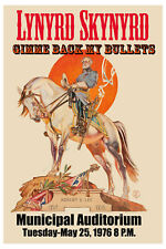 Lynyrd Skynyrd Gimme Back my Bullets with Robert E. Lee  Concert Poster  13x19
