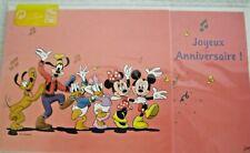 Disney Disneyland Paris Joyeux Anniversaire Card & Envelope Nip Happy Birthday