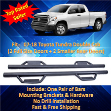 07-17 Fit Toyota Tundra Double Cab Black Step Running Board Hoop Side Bars