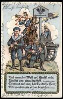 Germany WWI Zeppelin Patriotic Humor Cover USED Feldpost Magdeburg 97812