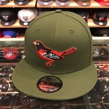 New Era Baltimore Orioles Snapback Hat Olive Green/Orange jordan 4 undefeated