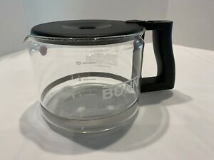 BUNN 10-Cup Replacement Coffee Pot Black Handle & Lid Glass Carafe