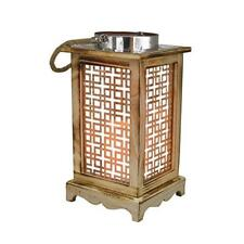 Rustic LED Hanging Lantern Safe Floating Imitation Candle Light