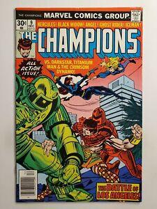 CHAMPIONS #9 (F/VF) 1976 DARKSTAR, TITANIUM MAN, CRIMSON DYNAMO APPEARANCE