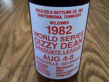WORLD SERIES DIZZY DEAN GRADUATE LEAGUE 1982, 1 - 10 Oz Coke Bottle