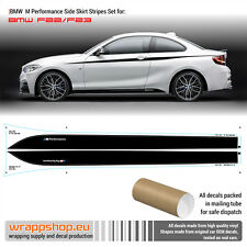 BMW M Performance Side Skirt Stripes decals Set for F20/F21/F22/F23
