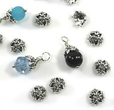 TierraCast, Jasmine, 7mm Bead Caps, Fine Silver Plated Pewter, 10 Pieces, 1512