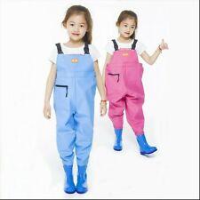 Kids Chlidren Chest Waders PVC Watertight Pants Waders Ourdoor Play Fishing Wear