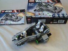 Lego Star Wars 75100 - First Order Snowspeeder - 100% Complete, Boxed