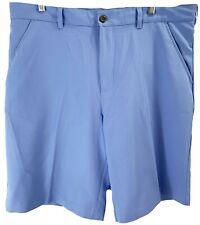 Izod Golf Mens Shorts Size 38 Carolina Blue Breathable Flat Front