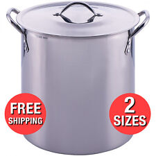 Stainless Steel Pot Lid Stock Cooking Kitchen Soup Stew Sauce Stockpot 8 16 Qt.