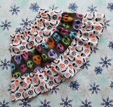 Nuevo Chicas Funky Halloween Calaveras volantes falda de volantes. 5-8 Años. único. Gótico Emo