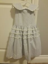 Pippa & Julie Girls Sleeveless Pinstripe Ruffle Dress Size 6