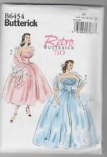 Butterick Sewing Pattern B6454 Miss Retro 50's Strapless Dress & Shawl Sz 14-22