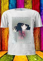 Anime Girl Manga Raining Windows Cool T-shirt Vest Tank Top Men Women Unisex 370