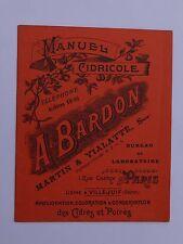 Manuel cidricole BARDON & Vialatte Paris Villejuif cidre poirés phosphate chaux