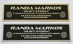 Randa Markos UFC nameplate for signed autographed mma gloves photo or case