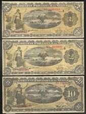 Revolutionary Mexico - Veracruz - 1, 2 & 10 Pesos - Set/3 - 1914/1915