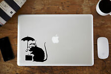 "Banksy Rat Umbrella Decal Sticker for Apple MacBook Air/Pro Laptop 11"" 13"" 15"""