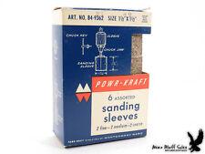 "NOS Powr-Kraft Sanding Sleeves Montgomery Ward 1-1/2"" x 1-1/2"""