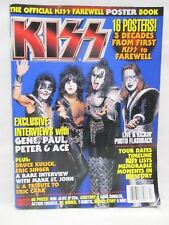 Kiss Official Farewell Poster Book Magazine Metal Edge 2000 16 Posters