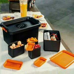 Blackstone 10-Pc Storage Tote All-In-One Store & Serve System Food Spices Tools