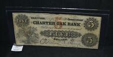 West Point Coins ~ Charter Oak Back Sept 1 1853 $5 Connecticut