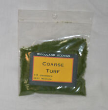 New repacked woodland scenic 7.5 grammes coarse turf medium green (ref#51)