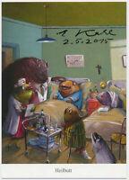 Ernst Kahl - original signiert Autogramm auf Kunstpostkarte - Heilbutt