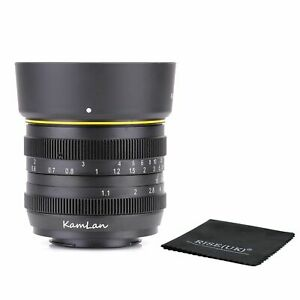 Kamlan 50mm F1.1 APS-C Manual Focus Lens for M4/3 Mount Mirrorless Cameras