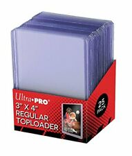 Hard Plastic Holder & 25 Sleeves for Baseball Card Topload Display Supplies