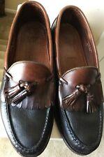 Allen Edmonds Nashua Mens Kiltie Tassel Loafers Size 9.5D Black/Brown