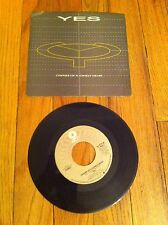 """YES Owner Of A Lonely Heart 7"""" single record 1983 Our Song Classic Prog Rock old"""