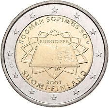 FINLANDIA 2 EUROS 2007 TRATADO DE ROMA - SIN CIRCULAR