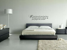 Snow Patrol stickers IF I LAY HERE FORGET THE WORLD Quote vinyl decal