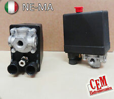 Pressostato per compressore 4 Vie Trifase 380 V, 12 Bar Ne-Ma (x Abac Fini Fiac)