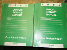 1989 DODGE COLT STATION WAGON ORIGINAL FACTORY SERVICE MANUAL SET SHOP REPAIR