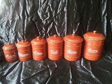 Pots à épices émaillés cuisine Vintage Enamelware Enamel Canister déco