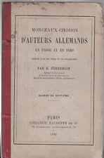 E. Scherdlin - Morceaux choisis D'AUTEURS ALLEMANDS - 1882