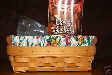 Longaberger 1997 Lavender Booking Basket Combo Signed 2