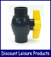 Solvent Weld Ball Valve - Yamitsu Yellow Handle Flow Control Valve 1.5/2/3 Inch