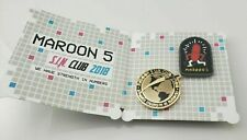 Maroon 5 Sin 2018 Fan Club Collectors Label Pin Set Double Clutch Back * New *