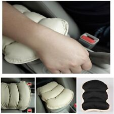Car Center Console Box Armrest Soft PU Leather Pad Cover Beige Auto Accessory