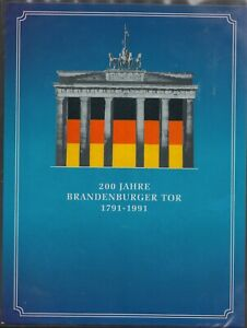 BRD Medaillensatz (24Stück) Album, 200Jahre Brandenburger Tor 1791-1991 Satz1/20