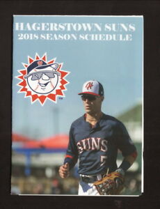Hagerstown Suns--2018 Pocket Schedule--Central City Liquors--Nationals Affiliate
