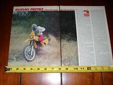 1982 SUZUKI PE175Z - ORIGINAL ARTICLE PE 175