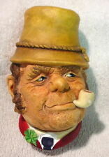 Nice 1969 Vintage BOSSONS Chalkware Wall Figural Head PADDY