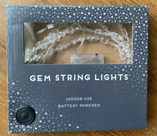 Decorative Indoor GEM STRING LIGHTS. Battery Powered. Home Weddings Party Table