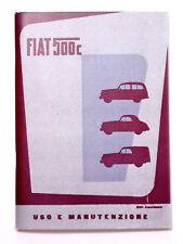 LIBRETTO USO MANUTENZIONE FIAT 500 C TOPOLINO BELVEDERE - 20ª Edizione 1954
